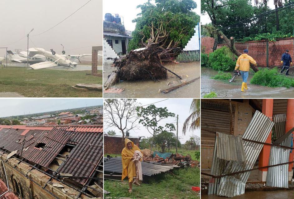 Tormenta con vientos huracanados y granizo provoca destrozos en Trinidad