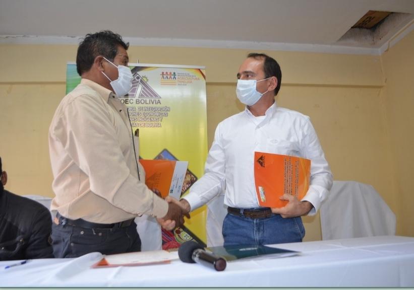 CAO y CIOEC Bolivia firman acuerdo para el desarrollo del sector productivo
