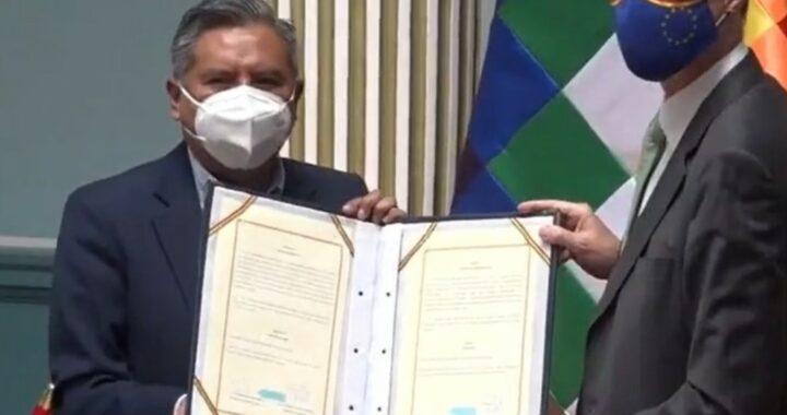 Alemania y Bolivia firman convenio de cooperación técnica para la lucha contra violencia
