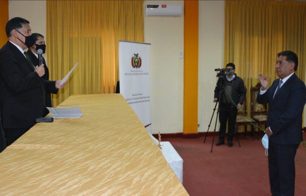 William Alave Laura es designado fiscal  departamental interino de La Paz